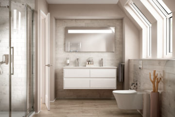 Ideal Standard CONNECT AIR Lavabo-plan double 134 x 46 cm blanc IdealPlus (E0272MA)