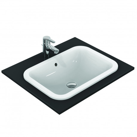 Ideal Standard CONNECT Lavabo à encastrer sans trou, rectangulaire 580 x 175 x 410 mm blanc (E505901)
